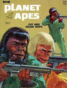 Planet of the Apes cut and color book My that looks like a wholesome book for youngsters! Pierre Boulle, The Dot Book, Vintage Coloring Books, Cult Movies, Fiction Movies, Science Fiction, Classic Monsters, Planet Of The Apes, Cinema Posters