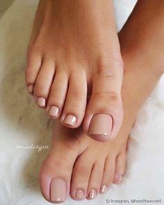 Acrylic Toe Nails, Toe Nail Art, Nude Nails, Toe Nail Polish, Gel Toe Nails, Gel Toes, Nails Inc, Classy Nails, Stylish Nails