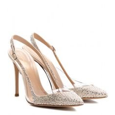 Gianvito Rossi Crystal-Embellished Satin and Transparent Pumps - S$1,769 (mytheresa.com)