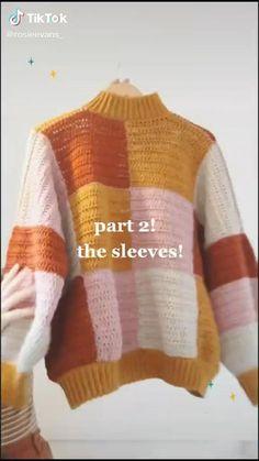 Crochet Cardigan, Knit Or Crochet, Cute Crochet, Easy Crochet, Crochet Stitches, Crochet Jumpers, Crotchet, Diy Crochet Projects, Crochet Crafts