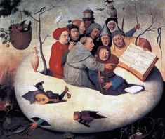 El Bosco Hieronymus Bosch, Holandés, the concert in the egg, 1560 Hieronymus Bosch, Art Roman, Le Concert, Fine Art Prints, Framed Prints, Canvas Art, Canvas Prints, Egg Art, Art Reproductions