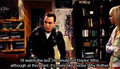 Big bang theory and doctor amazing