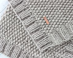 PDF PATTERN of how to make the Manchester Baby Blanket. NOT A PHYSICAL BLANKET FOR SALE. ♥ Knitting pattern #132 for the simple, modern baby blanket Manchester that provides a classy unisex blanket for your little miracle. It will make a charming baby shower gift for new moms, or a