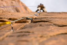 Climber with cool focus