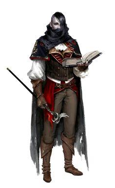 Male Human Wizard - Pathfinder PFRPG DND D&D d20 fantasy