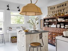 love the filing cabinet!!! Look at that amazing drawer unit in Sarah Gray Miller's kitchen!