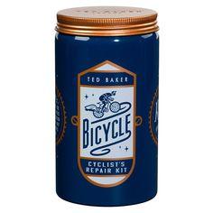 Ted Baker Men's Bike Repair Kit in Round Tin design by Wild & Wolf ...