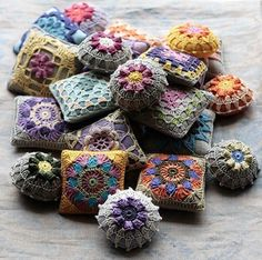 little pincushions but could fill them with pot pourri -could use the hand dyed doillies I have for these...