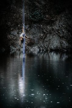 silks, deep water solo, free diving, hiden cave lake. Special place