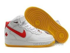 http://www.getadidas.com/nike-air-force-1-mid-orange-white-sneakers-discount.html NIKE AIR FORCE 1 MID ORANGE/WHITE SNEAKERS DISCOUNT Only $54.38 , Free Shipping!