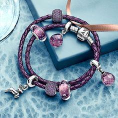 Bracelet Pandora violet http://www.bijoux-et-charms.fr/recherche?orderby=position&orderway=desc&search_query=VIOLET