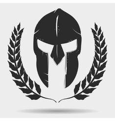 Gladiator helmet with laurel wreath vector image on VectorStock Gladiator Tattoo, Gladiator Helmet, Soldier Helmet, Warrior Helmet, Spartan Warrior, Sketch Tattoo Design, Forearm Tattoo Design, Helm Tattoo, Norse Tattoo