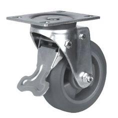 Ideal Lenkrolle mit Bremse Rad Material TPE TPU Gr e x