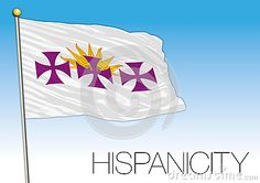 Hispanicity language flag, vector file, illustration