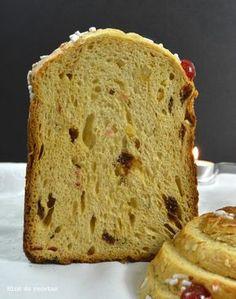 Receta del Panettone, un Pan dulce Navideño en panificadora.