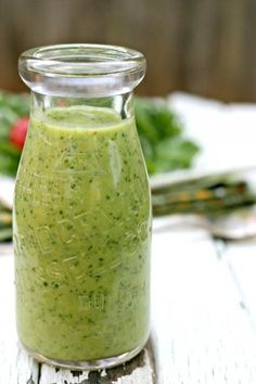 Creamy Avocado Citrus Salad Dressing, No Cream, No Oil. SO GOOD.