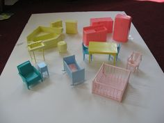 vintage 50s60s doll house furniture
