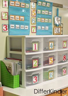 Organizing a for a quick change over with Math Stations and FREEBIE