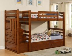 Buffalo Creek Stairway Bunk Bed