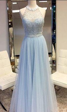 long prom dresses,light blue prom dresses,beaded prom dresses,tulle prom dresses @simpledress2480