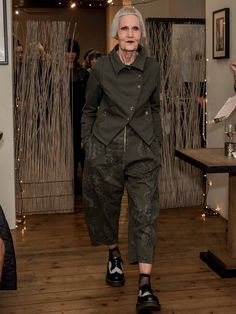 Local Fashionista Jean Woods at our Charity Fashion Show, wearing Lurdes Bergada Short Military Jacket in Khaki and Cactus Trousers, both from the new Autumn Winter collection, all the way from Barcelona to Bath! Adventure Outfit, Fall Winter, Autumn, Winter Collection, Charity, Military Jacket, Woods, Cactus, Barcelona