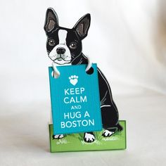 Keep Calm Boston Terrier  Desk Decor Paper Doll by AfricanGrey, $7.00