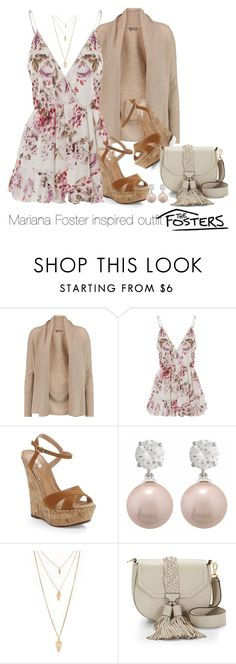 """""""Mariana Foster inspired outfit/TF"""" by tvdsarahmichele ❤ liked on Polyvore featuring N.Peal, WithChic, Schutz, Forever 21 and Rebecca Minkoff"""