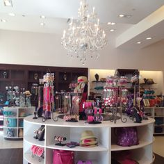 Charming Charlie is a girls paradise!  Everything is organized by sections of color.....amazing!!!!