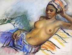 Zinaida Serebrjakova, 1928, Liggend naakt in Marrakech.