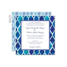 Moroccan Themed Wedding Invitation X Card See More Iconic Ikat Cards