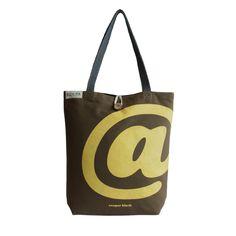 Kolpa Yellow @ Print on Brown Canvas Handbag-Style Strap – kolpaworld.com