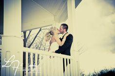 Wedding photos, gazebo, bride & groom