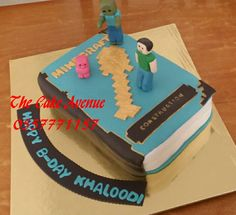 Mincraft book cake Book, Cake, Desserts, Pie Cake, Books, Cakes, Deserts, Livres, Dessert