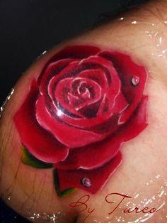 realistic flower tattoo   Tumblr