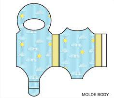 Moldes de Body para Lembrancinhas de Chá de Bebê e Nascimento! - Fazendo a Minha Festa