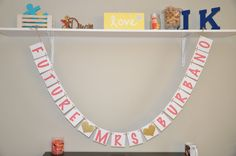 Future Mrs Banner  Coral & Gold by JKreations2013 on Etsy, $21.50