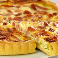 Recette : Tarte aux poireaux, lardons et fromage frais - Recette au fromage