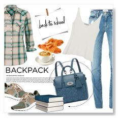 """""""Back to School: New Backpack"""" by viola279 ❤ liked on Polyvore featuring moda, Frame Denim, Mulberry, maurices, adidas, women's clothing, women's fashion, women, female e woman"""