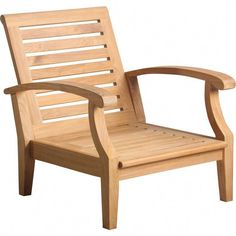 Cayman Teak Patio Chair with Sunbrella Cushions Wood Patio Chairs, Outdoor Lounge Chair Cushions, Fabric Dining Chairs, Room Chairs, Teak Furniture, Woodworking Furniture, Furniture Design, Furniture Buyers, Pallet Projects
