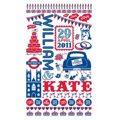 Since I'm not going to be able to get the Cath Kidston Royal Wedding tea towel...this is a great second option.  Love this!