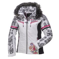 This feminine ski jacket of Kilpi ensures you to arrive completely in style on the slopes and during the après ski. Enjoy a lovely day on the slopes witht his warm, comfy double-layer ski jacket