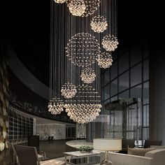 Online Shop Various Sizes Fit Modern Spiral Sphere Crystal Chandelier Staircase Raindrop Lighting LED Round Pendant Ceiling Lamp Entryway Chandelier, Luxury Lighting, Chandelier Lighting, Ceiling Lamp, Ceiling Lights, Wall Lamps, Wall Lights, Cool Chandeliers, Contemporary Light Fixtures