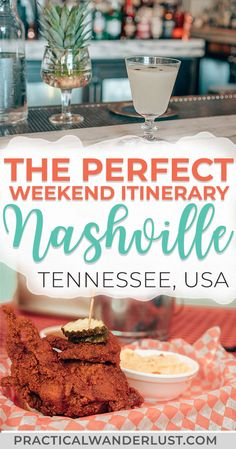 The perfect foodie weekend itinerary to Nashville Tennessee. Where to eat and drink what to do street art attractions the Grand Ole Opry and more. Visit one of the coolest destinations in the USA and eat your way through Music City! Nashville Tennessee, Weekend In Nashville, Nashville Vacation, Tennessee Vacation, Nashville Food, Visit Nashville, East Tennessee, Nashville Restaurants Downtown, Germantown Nashville
