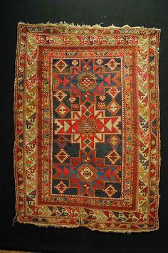 Antique tapis Schirwan kasak handrug ca:160x115cm tappeto carpet teppich