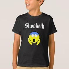 Custom Color Funny Shooketh OMG Emoji Black Shirt - unusual diy cyo customize special gift idea personalize