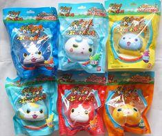 Yokai Watch Puni Puni Punitto Ball Squeeze 6pieces Komasan Jibanyan Bandai Japan   eBay