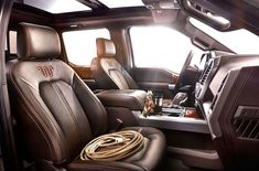 2016 17 Ford F150 King Ranch Interior Truck
