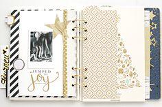 December Daily® hybrid scrapbook mini album | Day 8