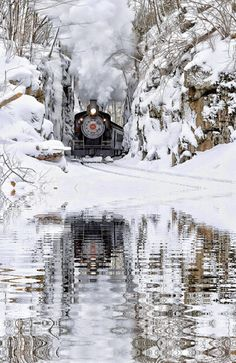 Winter train reflections...                                                                                                                                                                                 More
