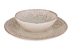 Ceramica Cuore MEDICI collection. dinner set